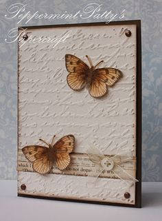 subtle  I don't have a scripted embossing folder but I do have others that would look nice with this card.