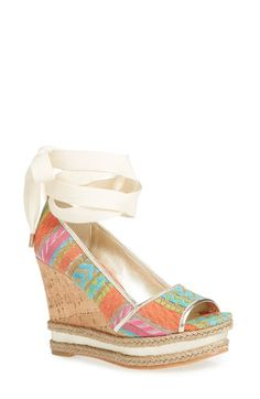 DONALD J PLINER 'Naomi' Wedge Ankle Wrap Sandal (Women). #donaldjpliner #shoes #sandals