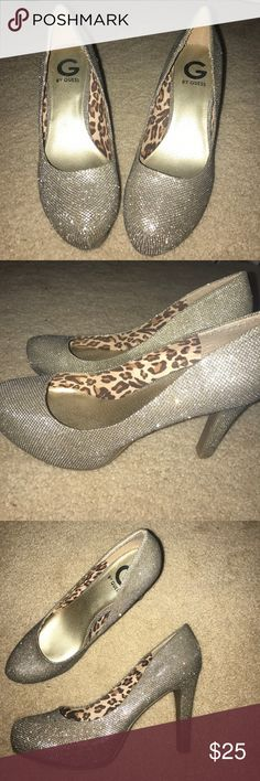 Sparkly high heels. G by GUESS HIGH HEELS Silver Sparkly G by Guess high heels! Shoes Heels