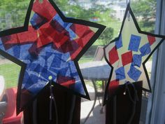 fourth of july crafts for kids | Preschool Crafts for Kids*: 4th of July Tissue Paper Stars Craft