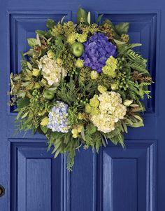 I love door wreaths