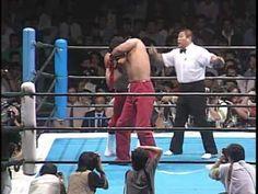 1990.09.30-NJPW: Great Muta vs Ricky Steamboat (New Japan debut)