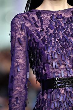 Details in aubergine for Prabal Gurung Spring Summer The Purple, All Things Purple, Purple Lilac, Shades Of Purple, Purple Stuff, Magenta, Purple Fashion, Love Fashion, High Fashion