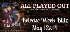 RELEASE WEEK BLITZ: EXCERPT AND GIVEAWAY: All Played Out by Cora Carmack ~ https://fairestofall.wordpress.com/2015/05/12/release-week-blitz-excerpt-and-giveaway-all-played-out-by-cora-carmack/