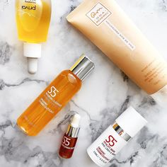 @s5skincare update: these are my faves out of everything I've been playing with. They all smell amazing & TASTE GOOD. I don't taste test but some ended up in my mouth k?  the cleanser & serum are oil based but the cleanser def feels more gel like without the stripping & the mask gives the best glow w. a little exfoliating action. S5 is across the pond but they have a few retailers stateside. Worth hunting down though