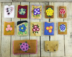 Handmade card holders and pouches in various styles,colours, and designs #Esawa #Handmade #Cardholders #Beadwork