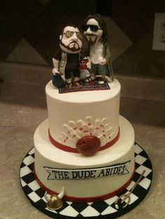 Big Lebowski by Erin Salerno, via Flickr. This takes first place in the most-awesome-wedding-cake-ever contest.