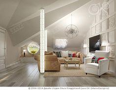 Дизайн гостиной мансарда http://www.ok-interiordesign.ru/ph32_house_cottage_interior_design.php