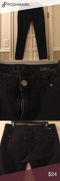 """DL 1961 Black Ankle Jeans Emma leggings in an amazing comfy stretch. From Stitch Fix! Sz 31. Shows normal wear, but these washed black beauties are ready for you! 27"""" inseam ankle length. DL1961 Jeans Ankle & Cropped"""