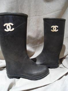 vintage chanel rain boots