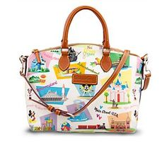 Retro Disneyland Satchel by Dooney & Bourke | Disney StoreRetro Disneyland Satchel by Dooney & Bourke - Revisit halcyon days at The Happiest Place on Earth with our Retro Disneyland Satchel by Dooney & Bourke. Charming illustrations on this fine fashion handbag feature favorite characters, logos and icons from Disney's original kingdom.