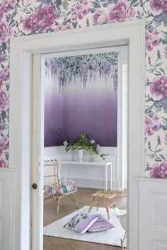 Designers Guild Summer Palace ombre wallpaper