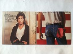 Bruce Springsteen Lot of 2 Born in the USA Darkness on the Edge of Town Records Classic Rock Albums, Records Search, Great Albums, Bruce Springsteen, Vinyl Records, Darkness, Usa, U.s. States, Dark