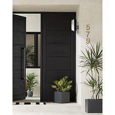 Shop the look en 2019 double front doors, wood front doors et doors. Black Doors, Black Exterior Doors, Modern Exterior, Modern Front Door, House Exterior, Beautiful Front Doors, Double Wood Front Doors, Wood Doors Interior, Modern Entrance