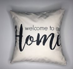 Excited to share the latest addition to my #etsy shop: Welcome Home Pillow | Handmade Throw Pillow | Farmhouse Decor | Farmhouse Pillows