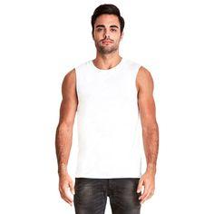 Next Level Men's White Muscle Tank