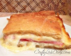 3-Ingredient Ham and Cheese Crescent Bake - Make a bunch of sandwiches without any hassle!