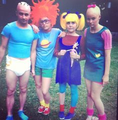 The Rugrats Halloween Costumes Funny Group Halloween Costumes, Clever Halloween Costumes, Fete Halloween, Creative Costumes, Cute Costumes, Group Costumes, Halloween Cosplay, Holidays Halloween, Cosplay Costumes