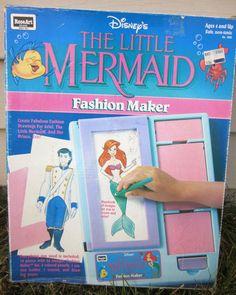 Rose Art Little Mermaid Fashion Maker. Yep, I had one.