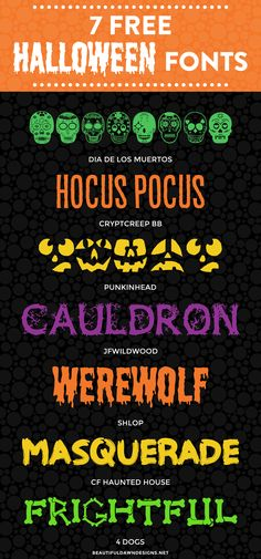 In This Font Roundup Im Sharing 7 Free Halloween Fonts Use These