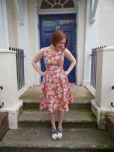 Nancy Spain dress - By Hand London Elisalex bodice and Simplicity 1419 combined #patternhackathon