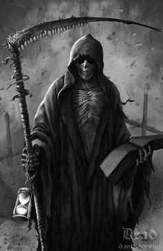 Iron Maiden-dance of death Grim Reaper Art, Grim Reaper Tattoo, Don't Fear The Reaper, Dark Artwork, Skull Artwork, Dark Art Drawings, Horror Artwork, Dark Fantasy Art, Chicano Art