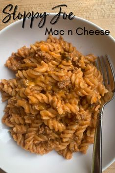 Looking for easy beef dinner ideas? Try this Sloppy Joe Mac n Cheese recipe this fall. It's an easy pasta dish that will quickly become a family favorite. Best Pasta Recipes, Fall Recipes, Beef Recipes, Yummy Recipes, Dinner Recipes, Fall Dishes, Dinner Dishes, Veggie Side Dishes, Healthy Dishes