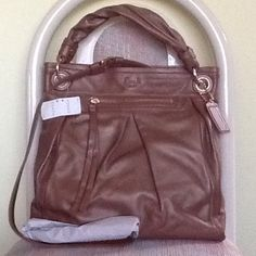 """Spotted while shopping on Poshmark: """"Coach Parker Large Leather Convertible Hippie""""! #poshmark #fashion #shopping #style #Coach #Handbags"""