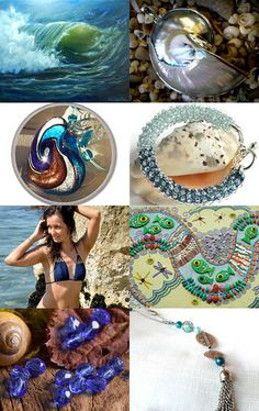 Rolling In On A Wave by Dawn @ https://www.etsy.com/shop/BeachDawn Featuring my Natural Iridescent Mother of Pearl Nautilus shell/ 925 silver focal bead Sacred Geometry (Item number 9315) @ https://www.etsy.com/listing/167906225/natural-iridescent-mother-of-pearl?ref=tre-2723041843-2
