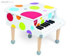 Confetti Grand Piano and thousands more of the very best toys at Fat Brain Toys. Sized just right for the littlest maestros in the family, this colorful, wooden, tiny grand piano is sure to spark a passion for learning and play. Toddler Gifts, Toddler Toys, Baby Toys, Kids Toys, Toddler Playroom, Children's Toys, Toddler Fun, Baby Play, Kids Gifts