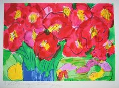 Lithographie - Walasse Ting - Flowers 2