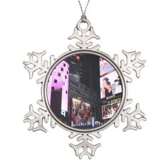Chuck Fischers Times Square Porcelain Christmas Ornament  Times
