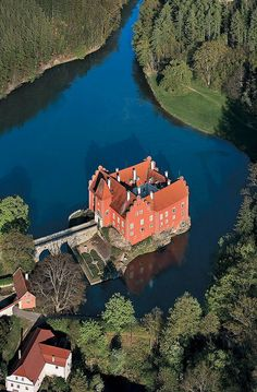 Červená Lhota château situated north-west of Jindřichův Hradec in south Bohemia, Czech Republic.