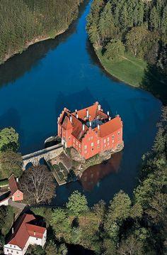 Červená Lhota château situated north-west of Jindřichův Hradec in south Bohemia, Czech Republic.