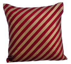 Unfolding Red Copper - 16x16 Red Silk layered with metallic copper fabric Throw Pillow.