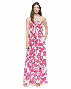 Silk Pansy Maxi Dress