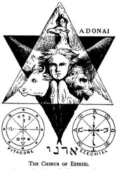 vagabondbohemia: Illustration from Eliphas Levi's Dogma Et Rituel De La Haute Magie Occult Symbols, Occult Art, Witchcraft Symbols, Ezekiel's Wheel, Eliphas Levi, Seal Of Solomon, Alchemy Art, Epic Of Gilgamesh, Esoteric Art