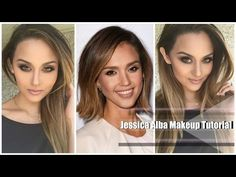 Jessica Alba Makeup and Outfit l Christen Dominique - YouTube