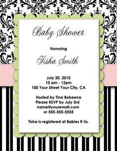 Baby Shower Invitations, customized