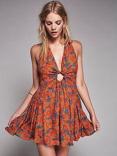 Ideal Halter Mini Dress