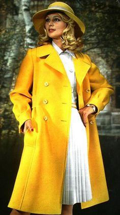 Yellow Wool Coat Christian Dior, 1973
