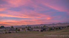 Summer Hill subdivision sunset
