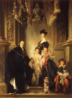 The Marlborough Family, 1905, John Singer Sargent (1856-1925).