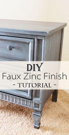 DIY Faux zinc finish tutorial