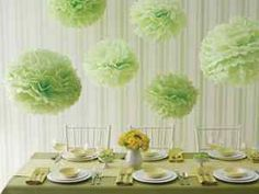 "16"" Lime Green Tissue Paper Pom Poms Wedding Shower Party Decoration 4pk"