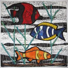 """It's a Little Fishy"" by Lisa Ellis - Journal Quilt"