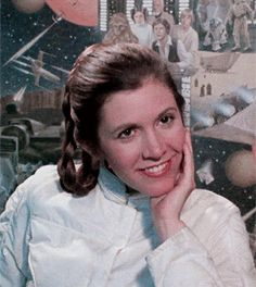 Awesome Carrie!  And I love her hair!  I think Leia's Bespin hairstyle is my favorite Leia hairstyle. (But I LOVE all her other styles, too.)  Go Leia and Carrie! ❤️