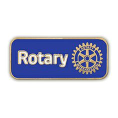 Russell-Hampton Co. Rotary Club Supplies: 1-1/8in. Gold Plated Signature Brand Lapel Pin