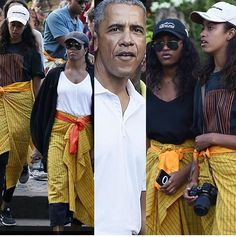visited the # Tirta Empul Temple in Bali, Presidents Wives, Black Presidents, American Presidents, Barrack And Michelle, Michelle And Barack Obama, Barack Obama Family, Malia Obama, Madam President, First Black President