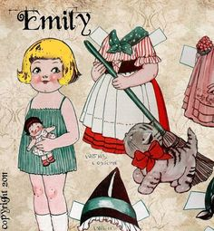 Instant Download Emily's New Dresses and by WondrousStrange